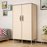 家用臥室簡易開門式布衣櫃出租房用小號單人現代簡約收納掛衣櫃子 陽光好物
