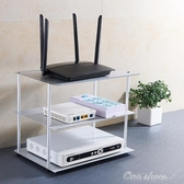 雙三層太空鋁電視機頂盒支架路由器置物架插排插座桌面電腦收納架  YJT 阿宅便利店
