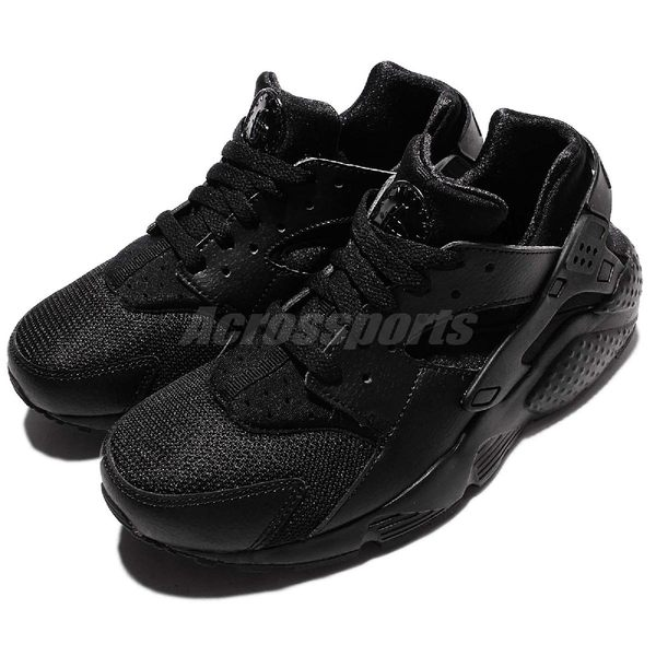 Nike 武士鞋 Huarache Run GS 全黑 黑 黑武士 女鞋 大童鞋 【PUMP306】 654275-016