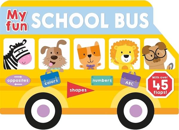 【麥克書店】MY FUN SCHOOL BUS /硬頁書《主題: 上學去 Goes to School》