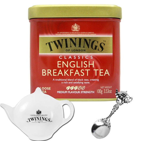 英倫早餐茶(100g)+茶碟+茶湯匙