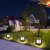 太陽能柱頭燈圍墻燈戶外防水LED花園別墅室外景觀庭院燈 萬客居