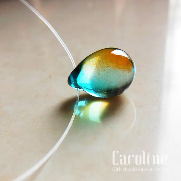 《Caroline》★韓風優雅時尚品味典雅設計隱形魚線琉璃項鍊69159