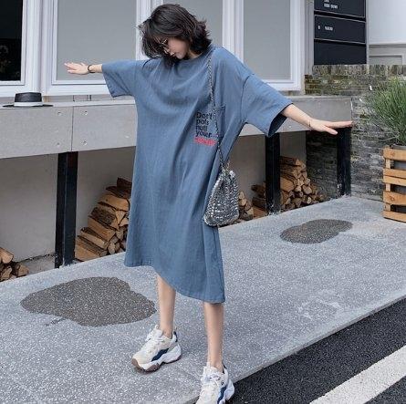 韓長版衣T裙連身裙洋裝L-2XL東大門中大尺碼女裝連衣裙居家服NC417.2035一號公館