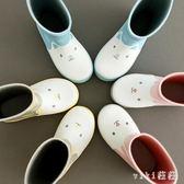 中大尺碼雨鞋 時尚防滑學生小孩兒童寶寶中筒雨鞋雨靴水鞋套鞋男女 nm21082【VIKI菈菈】
