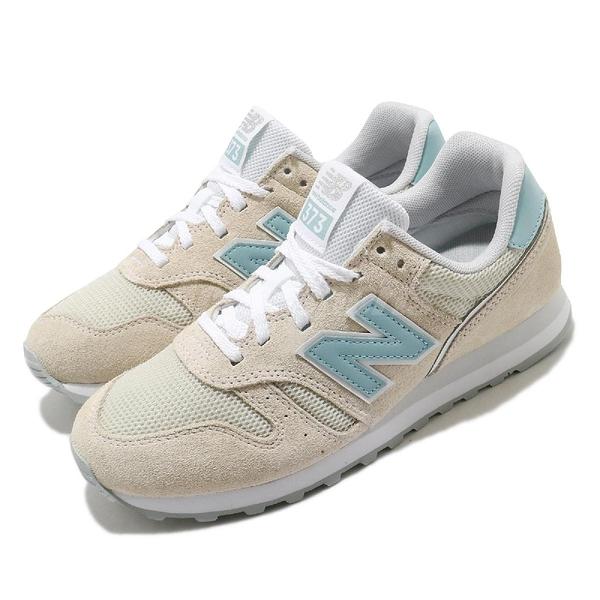 New Balance 休閒鞋 NB 373 米白 藍 女鞋 麂皮 復古慢跑鞋 運動鞋 【ACS】 WL373DA2B