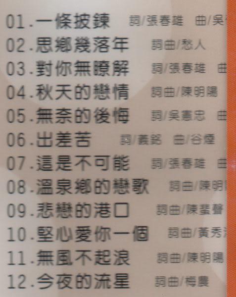 七郎  柔鄉的戀歌 一條披鍊 CD 台語專輯 2 (音樂影片購)