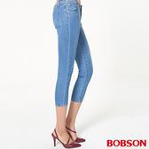 BOBSON 女款低腰大彈力牛仔七分褲 (226-58)