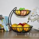 多層水果籃客廳創意時尚果盤簡約中式現代奢華收納架多功能果盆 小時光生活館