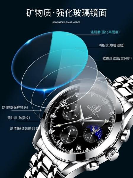 2020新款瑞士十大品牌全自動機械表國產名牌防水學生石英男士手表