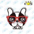 【防水貼紙】法鬥戴眼鏡 # 壁貼 防水貼紙 汽機車貼紙 5.2cm x 5.2cm