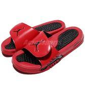 Nike 拖鞋 Jordan Hydro V Retro 紅 黑 魔鬼氈 喬登 涼鞋 男鞋【PUMP306】 555501-601