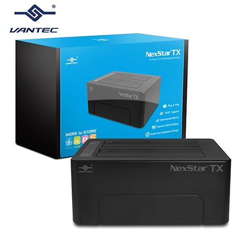 "VANTEC 凡達克 傳輸精靈TX2.5""/3.5"" SATA I/II/III 硬碟至超高速USB3.0硬碟外接座 (NST-D428S3-BK)"
