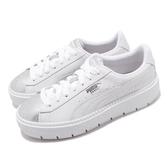 【海外限定】Puma 休閒鞋 Platform Trc BioHacking Wns 白 銀 女鞋 厚底 運動鞋 【ACS】 36916001
