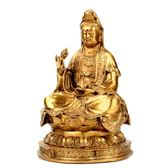 銅觀音菩薩風水擺件佛堂佛像擺件祈福供奉