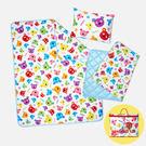 精梳棉寢具3件組(睡墊+薄被+枕頭) / 普普熊 / 1HB108