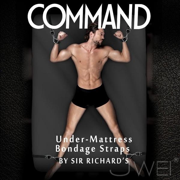 美國原裝進口PIPEDREAM.COMMAND Sir Richards命令系列 Under-Mattress Bondage Straps 床上四肢束縛SM套組