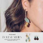 (現貨)PUFII-耳環 清新綠色系多款造型耳環 2色-0920 現+預 秋【CP15192】
