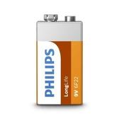 PHILIPS 碳鋅9V電池1入(熱縮)