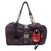 LOEWE 羅威 紫色麂皮鎖頭造型手提肩背包 【二手品牌 BRAND OFF】