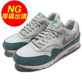 【US7.5-NG出清】Nike 復古慢跑鞋 Wmns Air Max 1 Ultra Essentials 左腳鞋頭汙點 灰 銀 綠 女鞋【PUMP306】