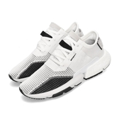 adidas 慢跑鞋 POD-S3.1 白 黑 透氣編織鞋面 P.O.D System 全新系列 男鞋 女鞋 運動鞋【PUMP306】 DB2929
