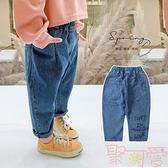 兒童百搭牛仔褲寬鬆寶寶洋氣春秋韓版長褲【聚可愛】