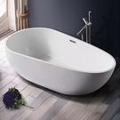 【麗室衛浴】BATHTUB WORLD 049壓克力薄邊獨立造型缸 160*80*59CM
