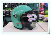 GP-5安全帽,泡泡鏡復古帽,319,素/綠