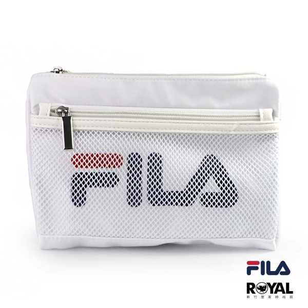 FILA 白色 網袋 隨身 小包 斜背包 側背包 NO.H2659