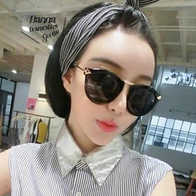 《花花創意会社》【H3329】韓國紅人款.水滴大圓框小臉太陽眼鏡.二色