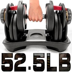 23公斤槓鈴│快速調整52.5磅智慧啞鈴(15種可調式)52.5LB槓鈴.舉重量訓練機.運動健身器材.推薦