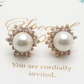 耳環 玫瑰金 925純銀鑲鑽-復古經典生日情人節禮物女飾品2色73gs171【時尚巴黎】