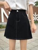 ins超火的半身裙2019夏季新款韓版復古學生高腰顯瘦A字牛仔短裙女