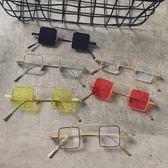 網紅同款復古正方形眼鏡原宿風太陽鏡ins韓版男女墨鏡歐美個性潮『摩登大道』