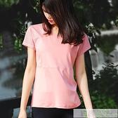 寬鬆運動t恤速幹短袖女健身服訓練半袖網眼透氣跑步T恤瑜伽服上衣  夏季新品