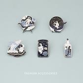 胸針 鯨魚胸針男女可愛日系徽章卡通別針扣裝飾ins潮個性書包包配飾品 夢藝家
