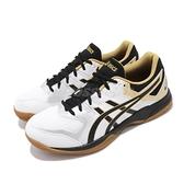 Asics 排球鞋 Gel-Rocket 9 白 黑 男鞋 室內 膠底 羽球 運動鞋 【ACS】 1071A030100