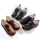 娃娃鞋英倫復古學院風女皮鞋秋冬布洛克百搭圓頭加絨保暖平底單鞋 【低價爆款】