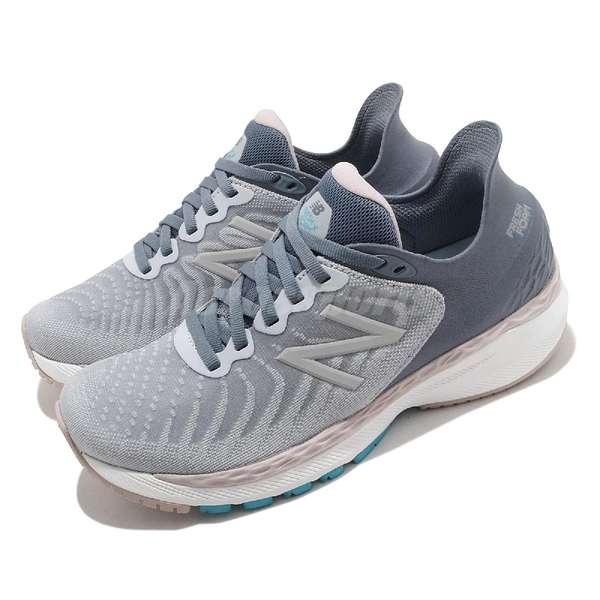 New Balance 慢跑鞋 860 寬楦 女 支撐型 灰 粉 路跑 馬拉松 運動鞋【ACS】 W860S11D