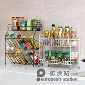 置物架/ 鐵藝多層調料架廚房用品 台面落地調味料架子收納架「歐洲站」