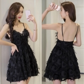 洋裝2020秋冬季新款很仙的氣質小禮服吊帶性感露背夜店裙子女 安妮塔小鋪