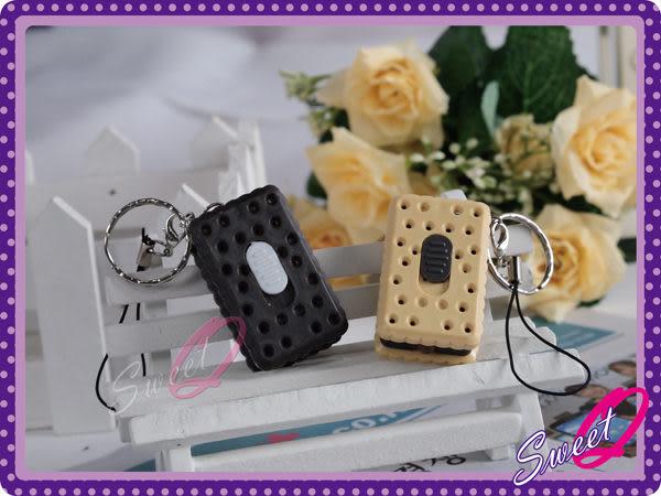 ☆韓妮小舖☆【EX1070】方塊夾心餅乾手電筒 KEY圈 鑰匙圈 掛飾 吊飾 配飾 菇菇筆