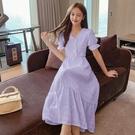 法式洋裝 流行女神風裙子桔梗法式復古氣質仙女小香風白色連身裙-Ballet朵朵