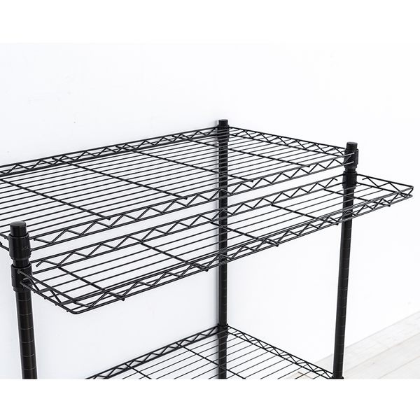 收納架/置物架/層架配件  【配件類】90X20cm 反焊設計烤黑ㄇ網  dayneeds
