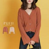 現貨◆PUFII-針織外套 大圓釦坑條兩穿針織外套-1031 秋【CP17491】