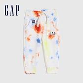 Gap嬰兒 Logo紮染毛圈長褲 685382-紮染