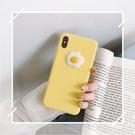 卡通立體煎蛋適用iPhoneXS Max手機殼6s/8p純色XR蘋果7Plus軟殼女