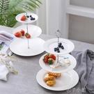 陶瓷三層水果盤家用客廳茶幾歐式創意現代多...