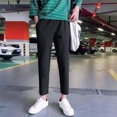 西褲 褲子男寬鬆九分韓版潮流百搭西褲直筒闊腿 交換禮物